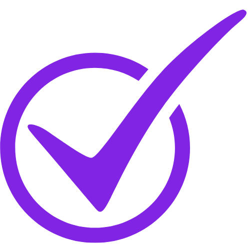purple tick icon